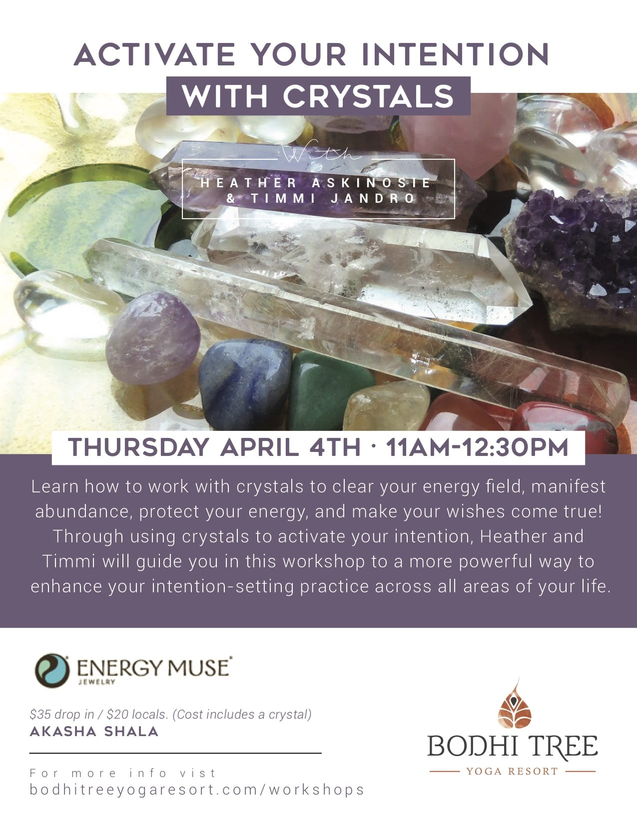 Activate Your Intention with Crystals - Bodhi Tree Yoga Resort